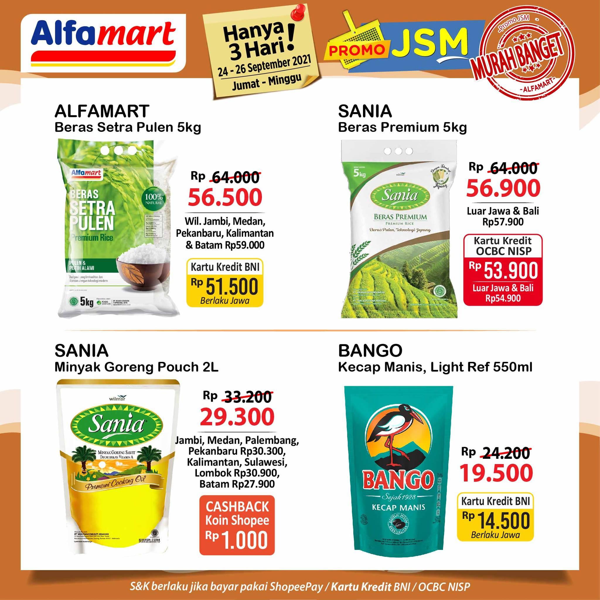 Promo ALFAMART JSM Weekend periode 24-26 September 2021