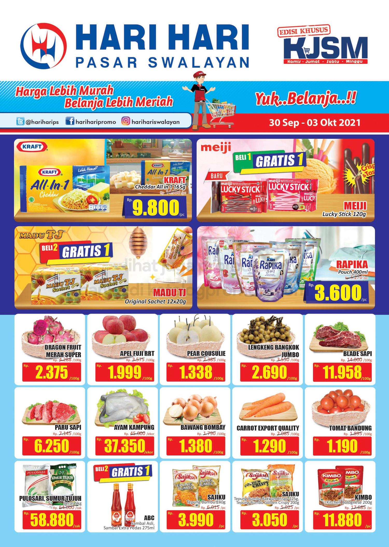 Promo Hari Hari Pasar Swalayan Weekend JSM Periode 30 September - 03 Oktober 2021