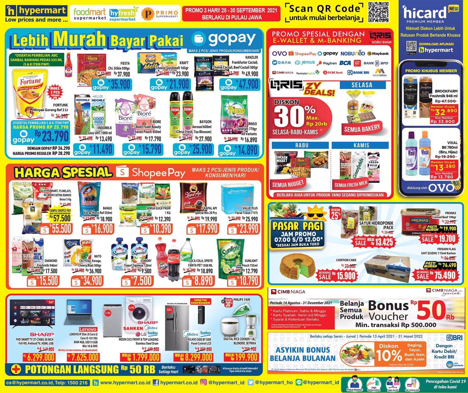 Katalog Hypermart Promo Weekday periode 28-30 September 2021