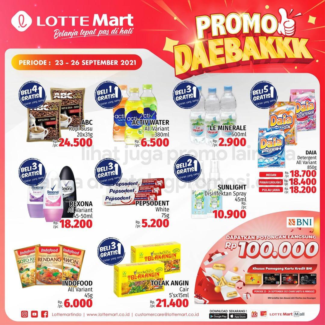 Katalog Promo LOTTEMART RETAIL WEEKEND JSM periode 23-26 September 2021