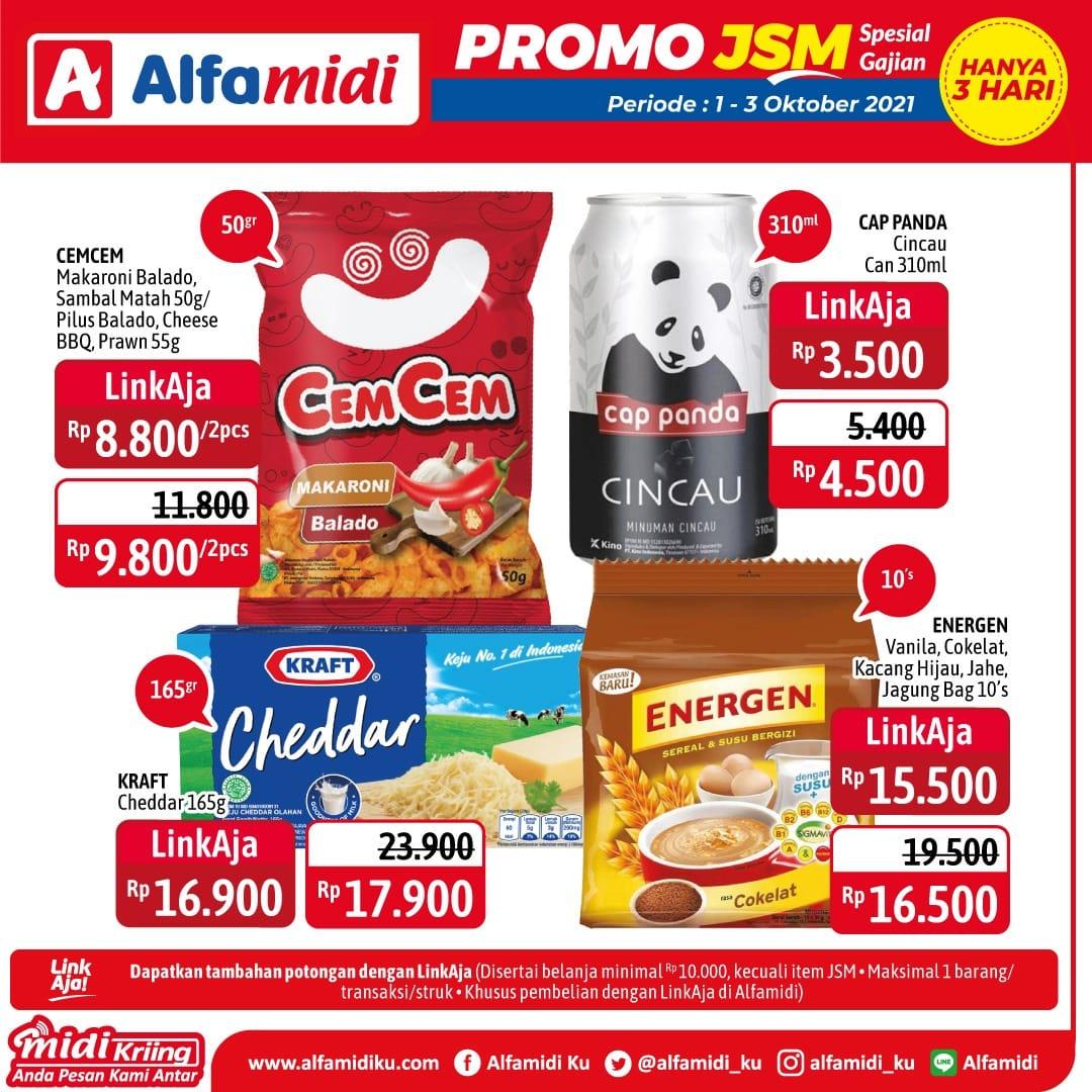Promo ALFAMIDI JSM Weekend periode 01-03 Oktober 2021
