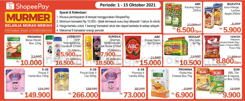 ALFAMIDI Promo SHOPEEPAY MURMER periode 01-15 Oktober 2021