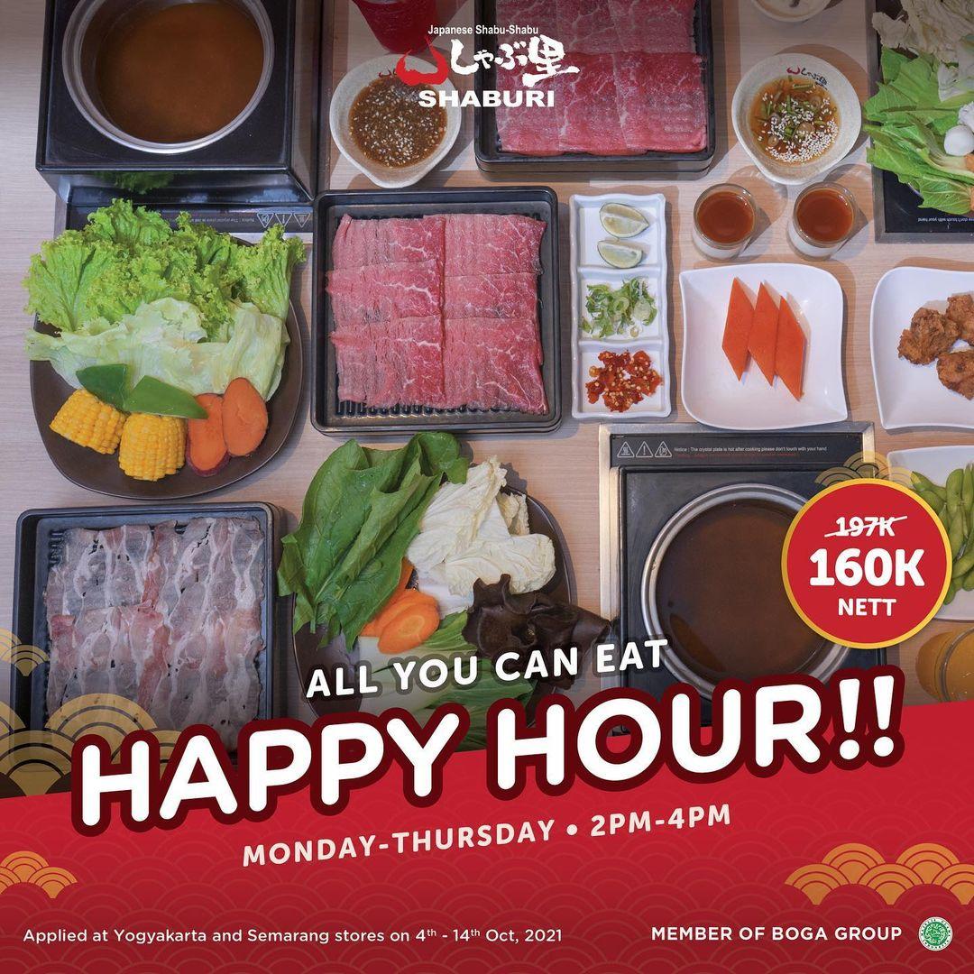 Promo SHABURI HAPPY HOUR - ALL YOU CAN EAT HANYA Rp. 160.000 nett