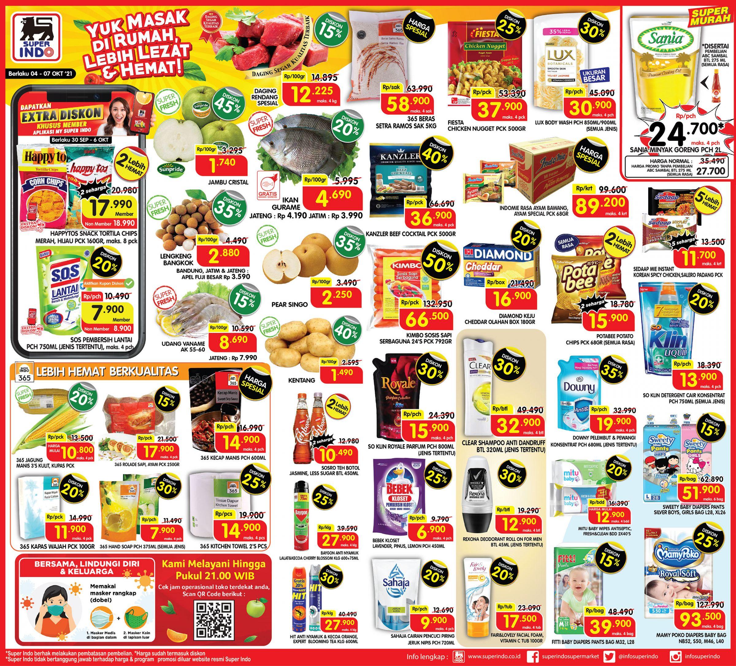 Promo Superindo Katalog Awal Pekan (Weekday) periode 04-07 Oktober 2021